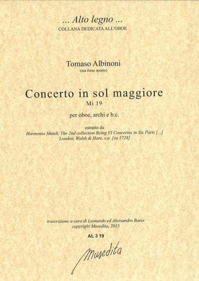 Albinoni, Tomaso (1671–1750): Concerto in sol maggiore MI 19