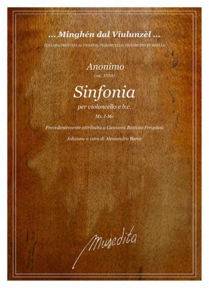 Anonimo (18 Jh.), Pergolesi(?):<br>Sinfonia