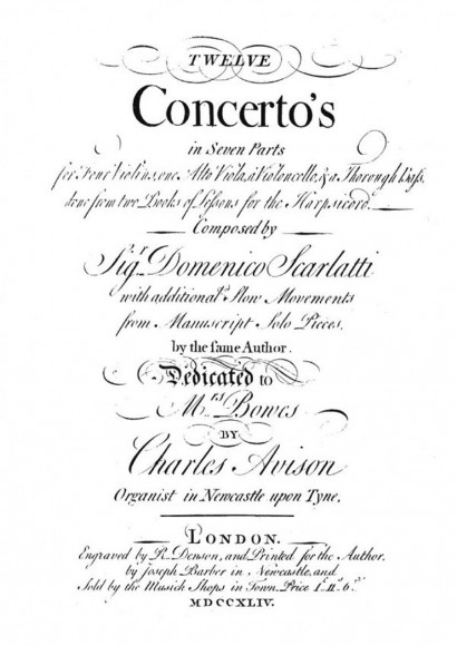 Avison, Charles (1709–1770): 12 Concertos in Seven Parts (Faksimile)