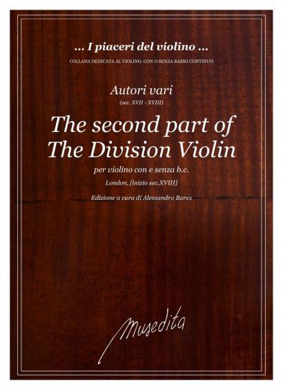 Autori vari (17. century): The second part of the division violin