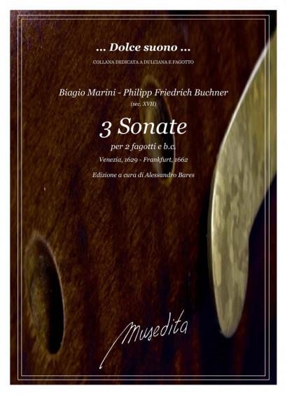 Marini, Biagio / Buchner, Philipp Fr. (17 century): 3 Sonate