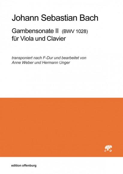 Bach, Johann Sebastian (1685–1750): Gambensonate II für Viola und Clavier BWV 1028 in F-Dur