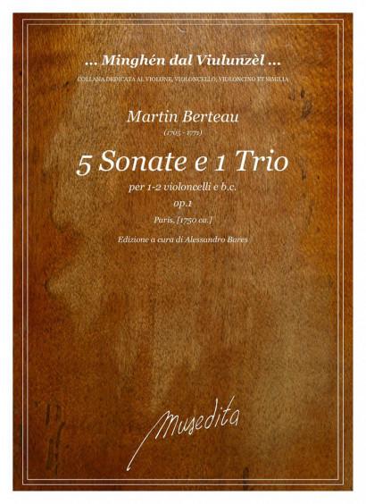 Berteau, Martin (1705–1771): 5 Sonate e 1 Trio op. 1
