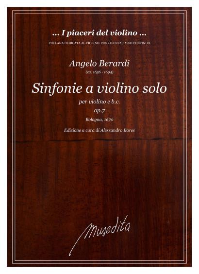 Berardi, Angelo (ca. 1636–1694): Sinfonie a Violino solo op. 7