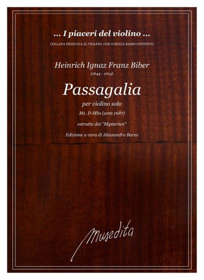 Biber, Heinrich I. F. (1644–1704): Passagalia