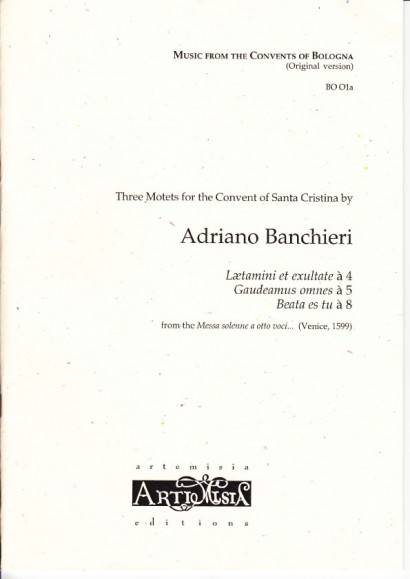 Banchieri, Adriano (1568-1634): Drei Motetten - original version for mixed choir