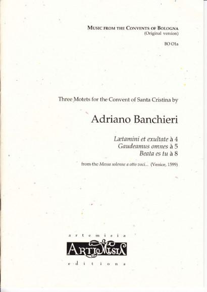Banchieri, Adriano (1568-1634): Drei Motetten - Originalausgabe für gem. Chor
