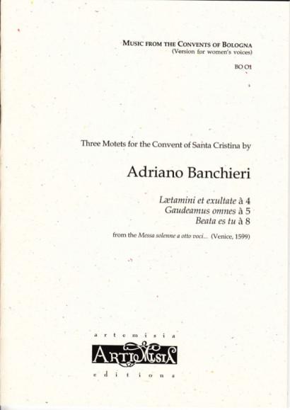 Banchieri, Adriano (1568-1634): Drei Motetten - Convent-Version für Frauenst.