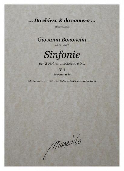 Bononcini, Giovanni (1670–1747): Sinfonie a tre op. 4