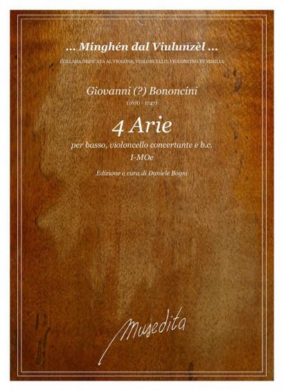 Bononcini, Giovanni (?) (1670–1747):<br>4 Arie