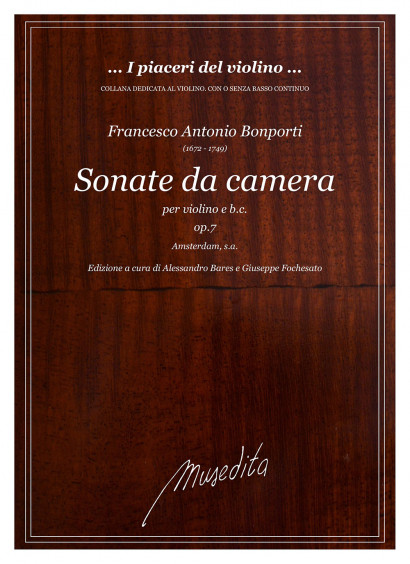 Bonporti, Francesco A. (1672–1749): Sonate da camera op. 7