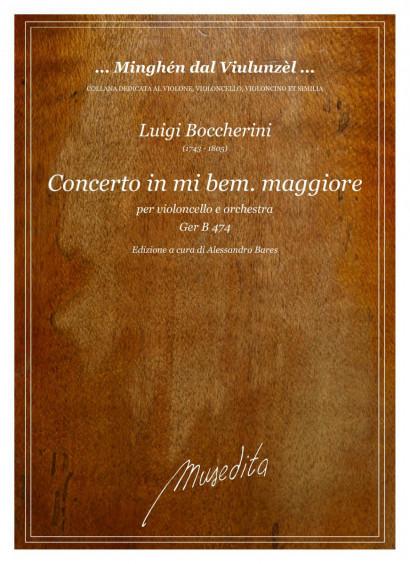 Boccherini, Luigi (1743–1805): Concerto mi bemolle maggiore Ger B 474 – Partitur und Stimmen