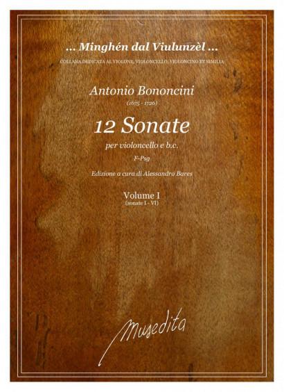 Bononcini, Antonio (1675–1726): 12 Sonate