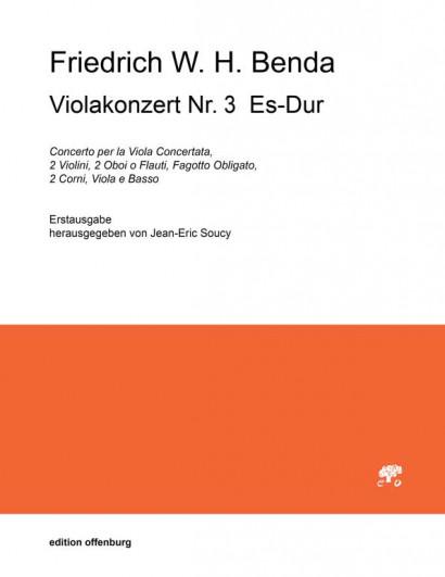 Benda, Friedrich W. H. (1745–1814): Viola Concerto Nr. 3 Es-Dur