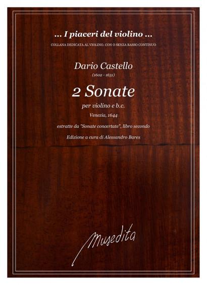 Castello, Dario (1602–1631): 2 Sonate per violino e b. c.