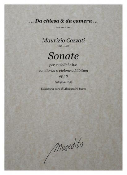 Cazzati, Maurizio (1616–1678): Sonate op. 18
