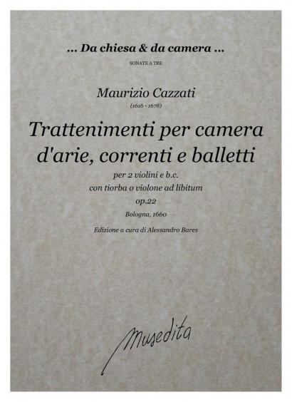 Cazzati, Maurizio (1616–1678): Trattenimenti per camera op. 22