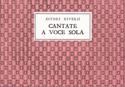 Autori diversi (ca. 1720):12 Cantate a voce sola