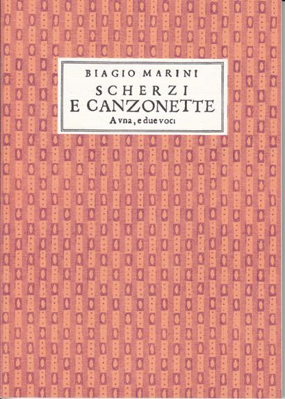 Marini, Biagio (1587–1665): Scherzi  e Canzonette op. 5