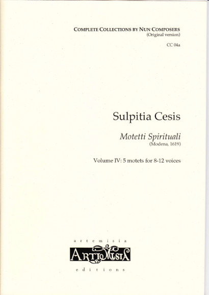 Cesis, Sulpita (1577-?): Motetti Spirituali IV - original version for mixed choir