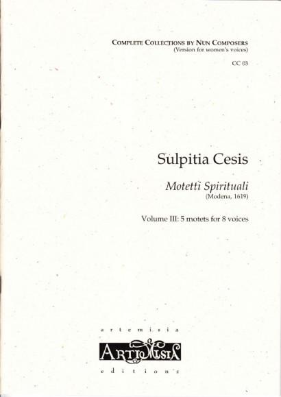 Cesis, Sulpita (1577-?): Motetti Spirituali III - Convent-Version für Frauenst.