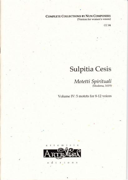 Cesis, Sulpita (1577-?): Motetti Spirituali IV- Convent-Version für Frauenst.