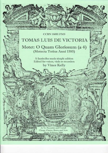 Victoria, Tomas Luis de (1548-1611): Motette O Quam Gloriosum