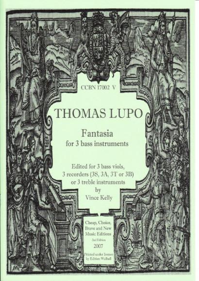 Lupo, Thomas (1571-1627): Fantasia