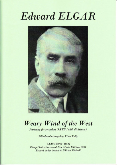 Elgar, Edvard (1857-1934): Weary Wind of the West (SATB)