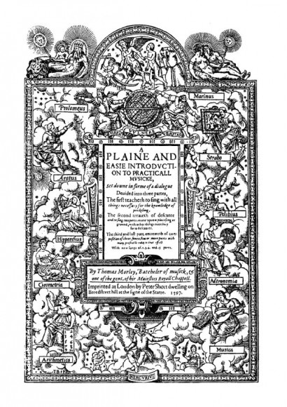 Morley, Thomas (1557-1602): A plaine and easie introduction to practicall Musicke (1597)