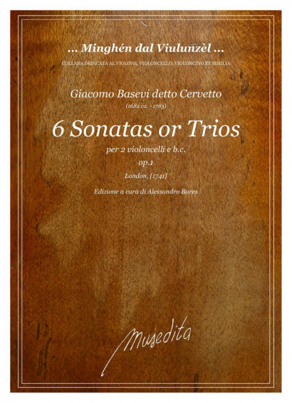 Cervetto, Giacobo (1682–1783):  6 Sonatas or Trios op. 1