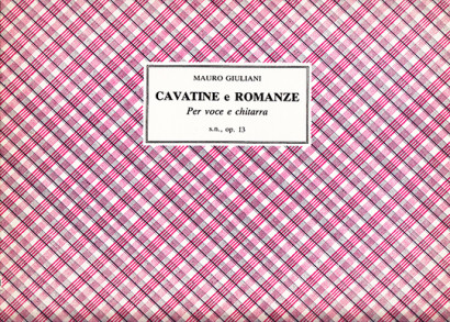 Giuliani, Mauro (1781–1829): Cavatine e Romanze op. 13