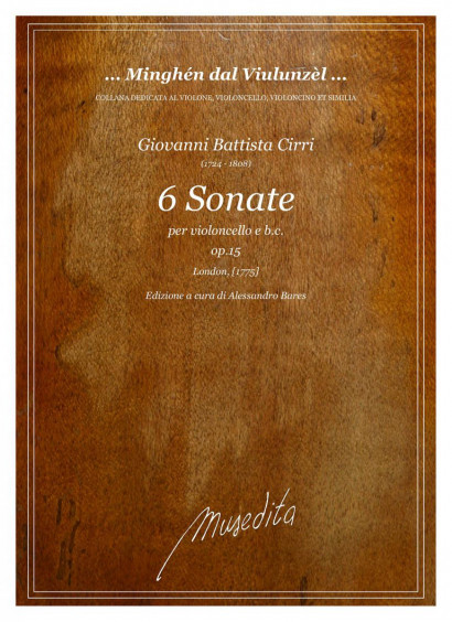 Cirri, Giovanni B. (1724–1808):<br>6 Sonate op. 15