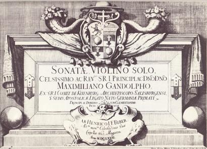 Biber, Heinrich Ignaz Franz: Sonatæ, Violino solo (1681)