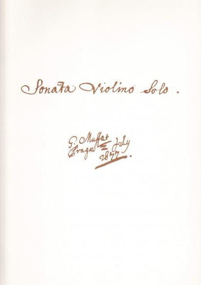 Muffat, Georg (1653-1704): Sonata Violino solo