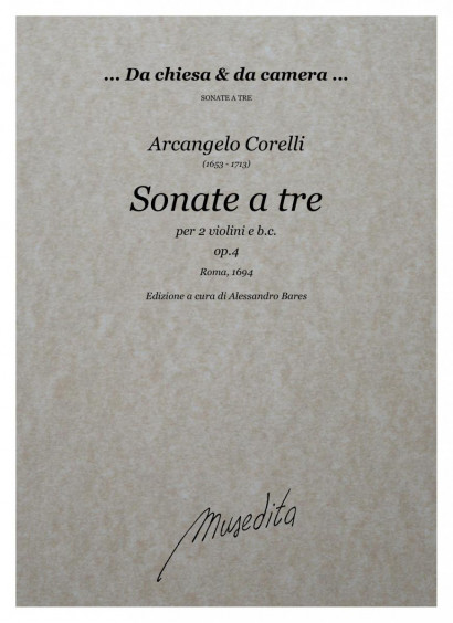 Corelli, Arcangelo (1653–1713): Sonate da camera a tre op. 4