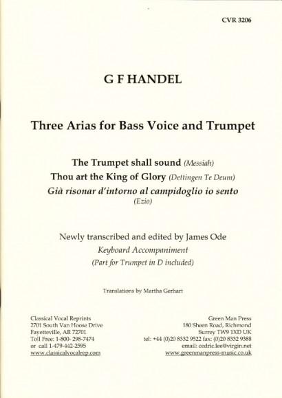 Händel, Georg Friedrich: Drei Arien für Baß und Trompete