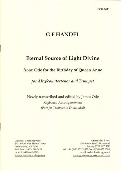 Händel, Georg Friedrich (1685-1759): Eternal Source of Light divine