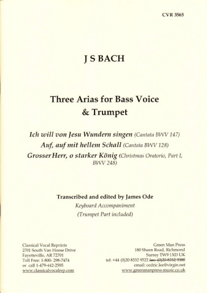 Händel, Georg Friedrich (1685– 1759): Three Arias for Bass Voice & Trumpet