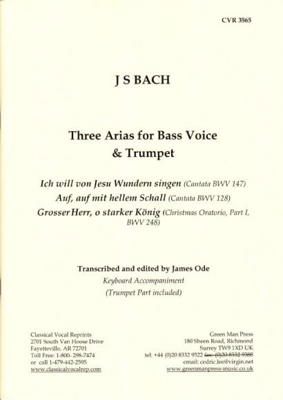 Bach, Johann Sebastian (1685-1750):  3 Arien