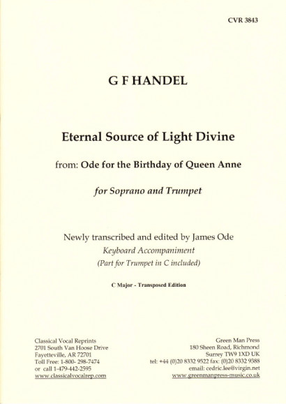"Händel, Georg Friedrich: Eternal Sour Source of Light Divine ce aus ""Ode for the Birthday of Queen Anne"" - version for trumpet in C"