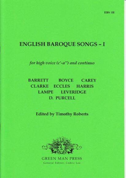 English Baroque Songs – Volume 1