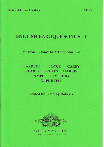 English Baroque Songs – Volume 1