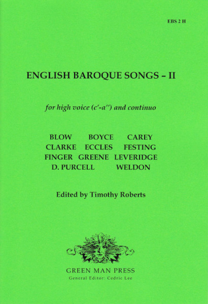 English Baroque Songs – Volume 2<br>- Edition for high voice [c'–a'']