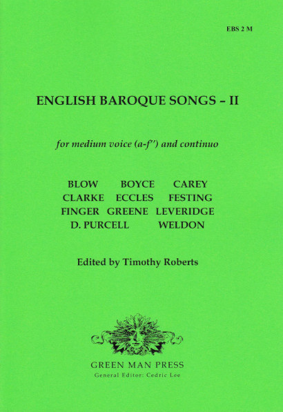 English Baroque Songs – Volume 2<br>- medium voice [a–f'']