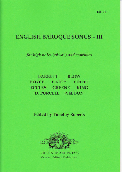 English Baroque Songs – Volume 3<br>- Edition for high voice [c'–a'']