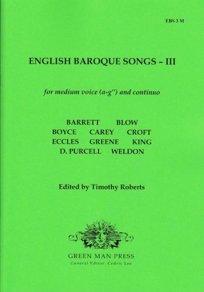 English Baroque Songs – Band 3<br>- Ausgabe für mittlere Stimme [a–g'']