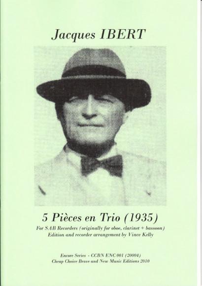 Ibert, Jacques (1890-1962): 5 Pièces en Trio (1935)
