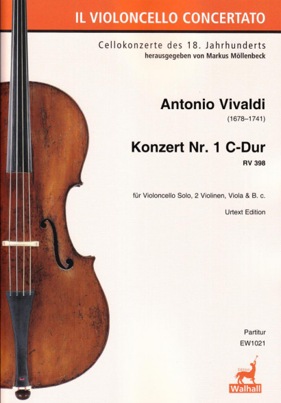 Vivaldi, Antonio (1678–1741): Concerto No 1 C Major RV 398 – Score