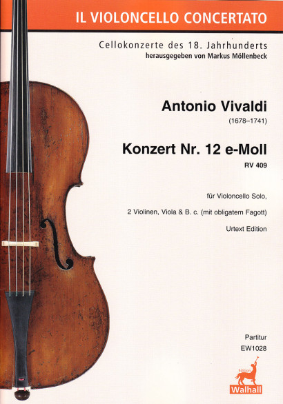 Vivaldi, Antonio (1678–1741): Concerto No. 12 E Minor RV 409<br>Score